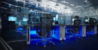 Blue Origin mission control room