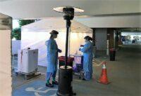 Drive-through coronavirus testing station