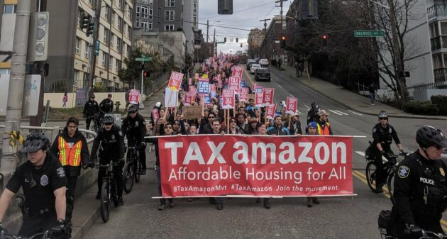 Seattle business leaders ask city to reconsider tax after Amazon polls employees about relocation