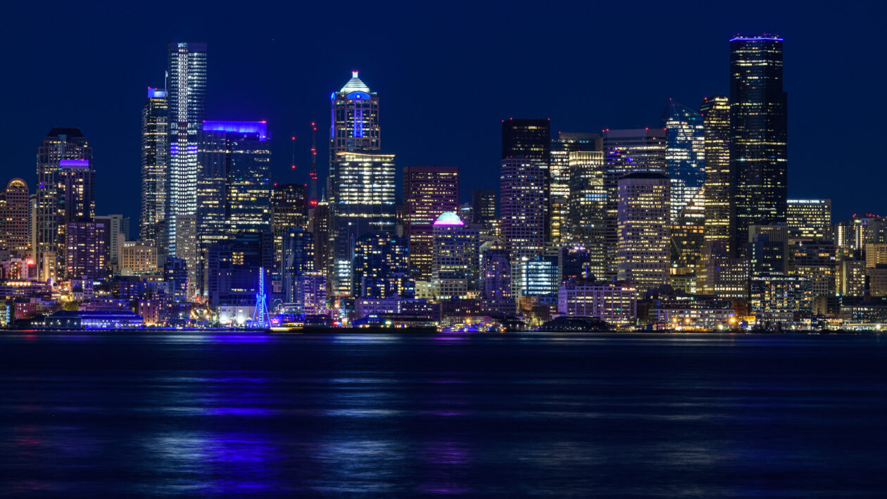 In Seattle and across U.S., 'Light It Blue' campaign is a colorful 'thank you' to front-line workers