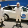Astronauts at rehearsal