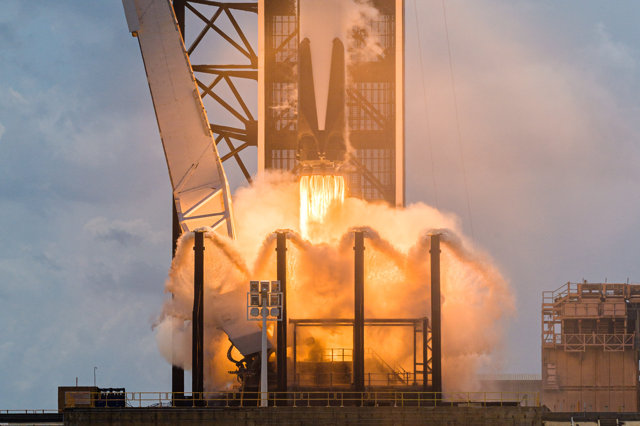 Closer than humanly possible: New launch pad photos capture historic SpaceX liftoff in all its glory