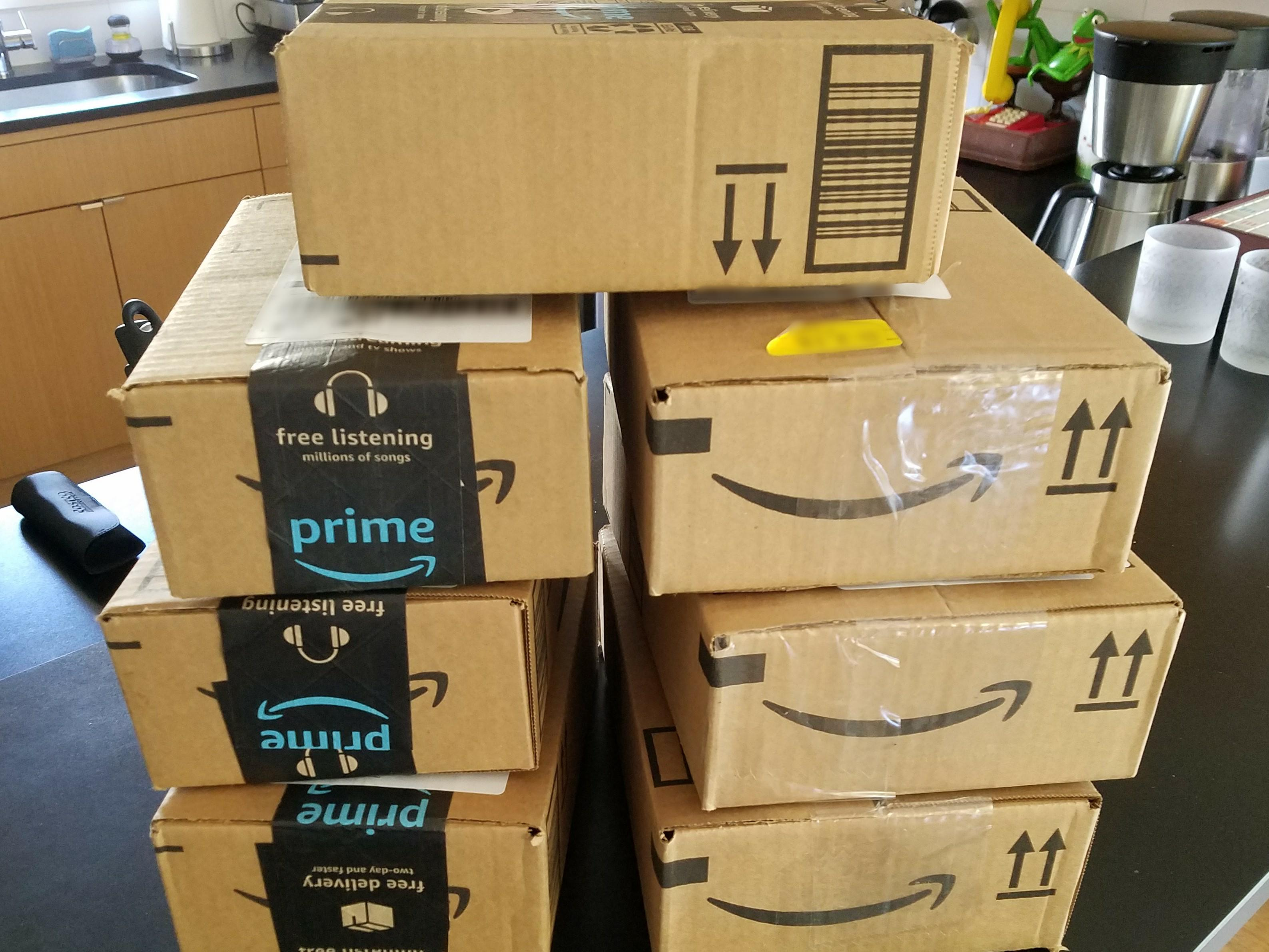 Unpack This Amazon Shipping Snafu Sends Single Order Of Seven Small Items In Seven Separate Boxes Geekwire