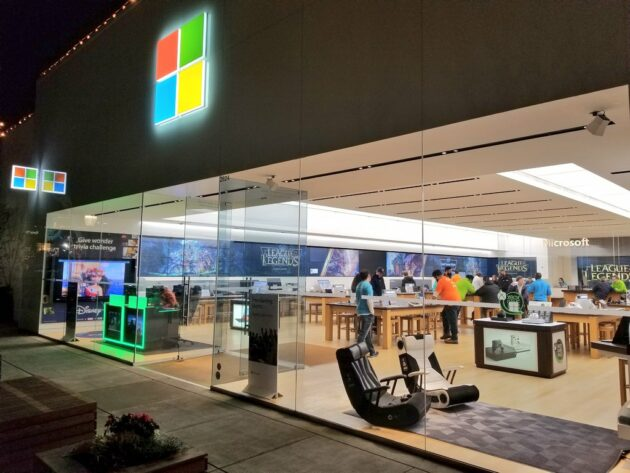 The Microsoft Store in Seattle's University Village