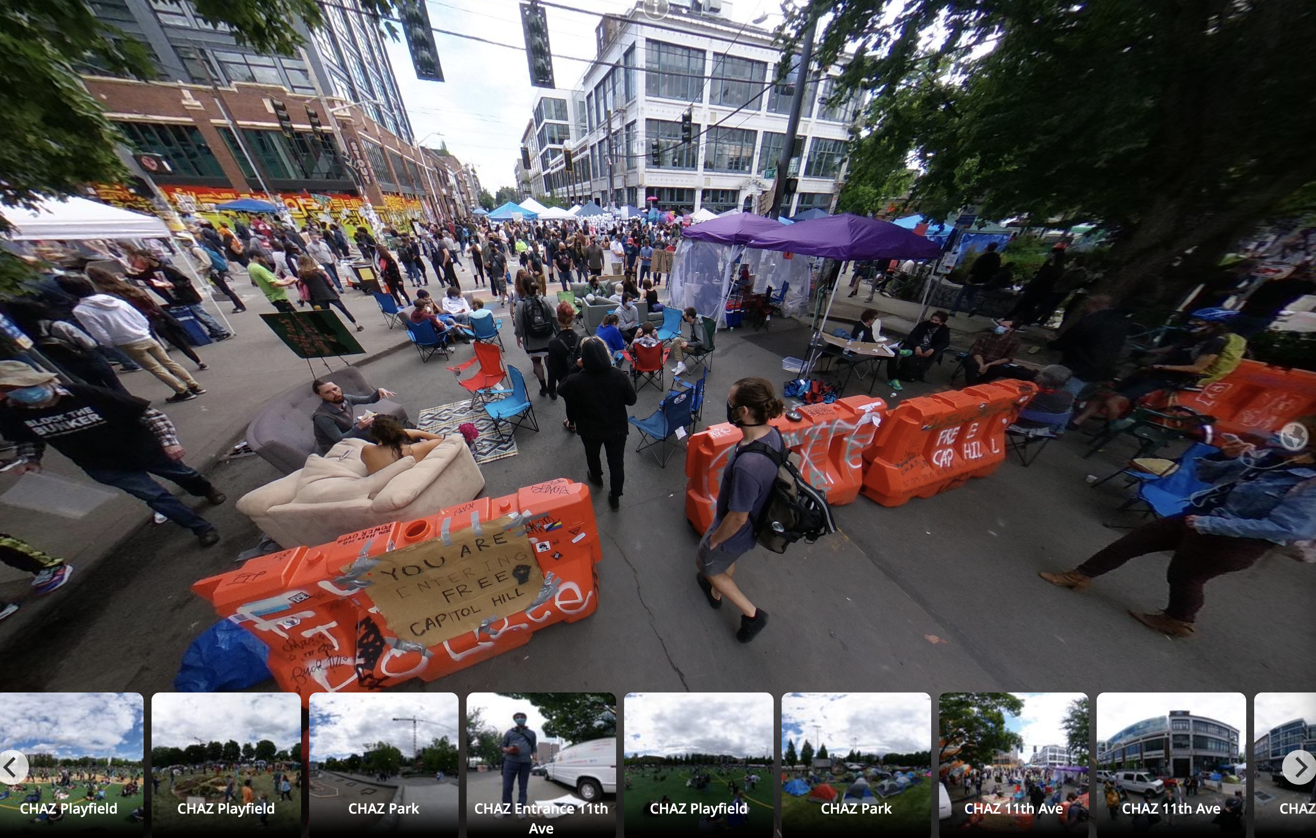 What S Really Happening In Seattle S Protest Zone Photographer Creates 360 Degree Immersive Tour Geekwire