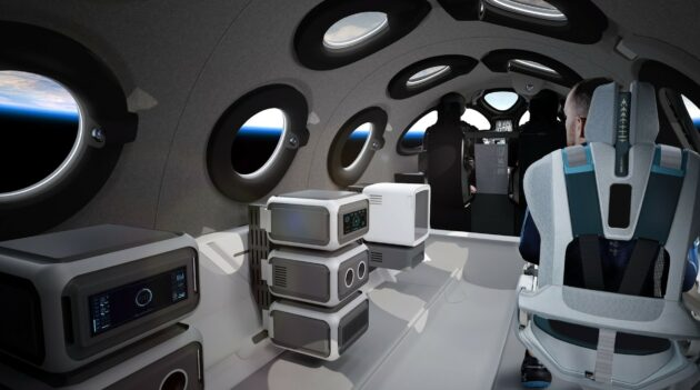 SpaceShipTwo cabin with payloads