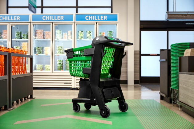 Unveils shopping cart that knows what you're buying