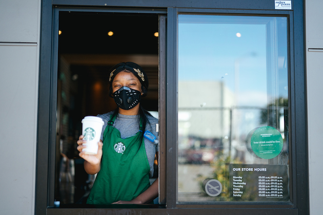 Starbucks to require customers wear face masks inside its cafes