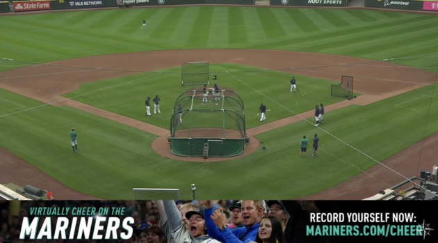Seattle Mariners try to keep fans in the game with streaming practices, virtual cheering and more