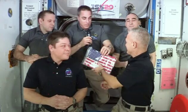 Flag handover