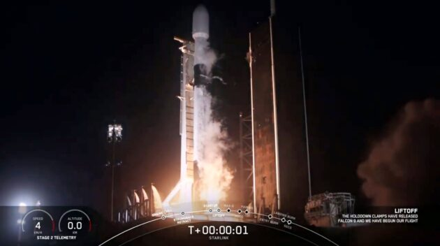 SpaceX launches 57 stealth satellites for Starlink network, plus a pair for BlackSky