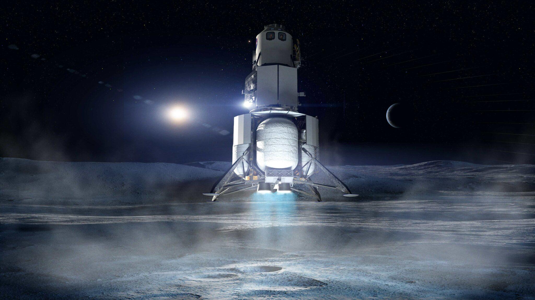 Blue Origin and partners pass key milestone for lunar lander design