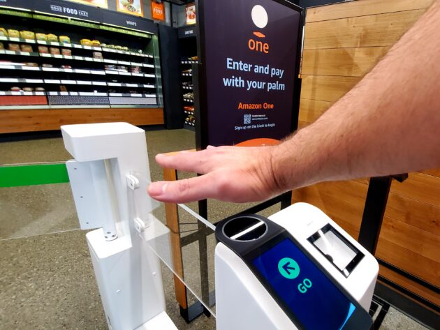 Amazon to offer palm-scanning as option for entry into stores