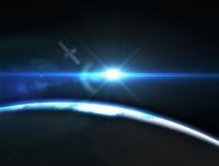 卫星在轨道上