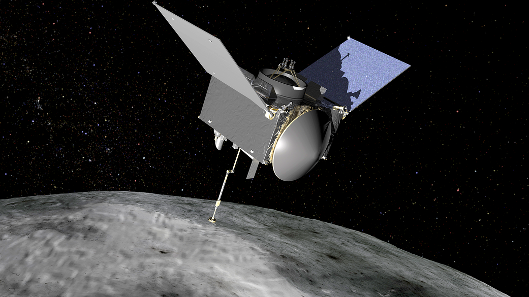 OSIRIS-REx probe touches down to grab bits of an asteroid, with assist from Aerojet