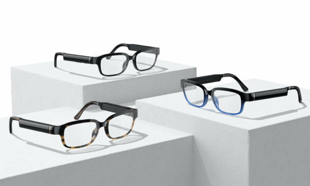 Echo Frames are available in Modern Tortoise Horizon Blue and Classic Black