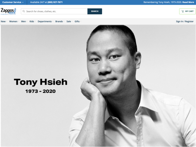 Tony Hsieh, former CEO of Zappos who sold online shoe retailer to Amazon for $1.2B, dies at 46