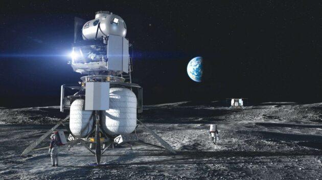 Blue Origin landing units