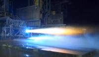 BE-7 rocket engine test