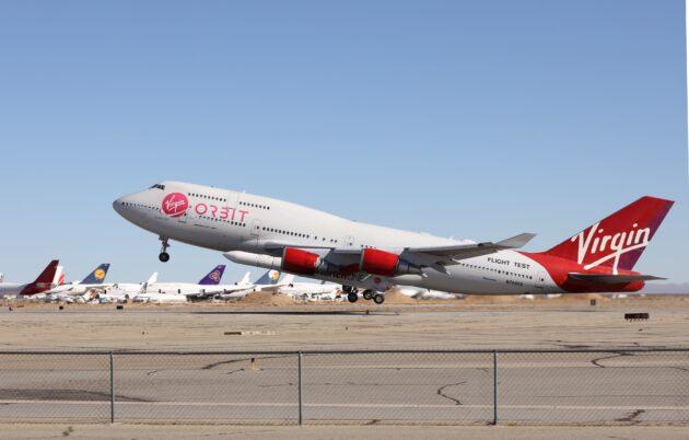 Virgin Orbit 747 Start