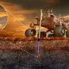 Borebot at work on Mars