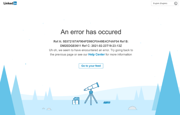 LinkedIn is down outage