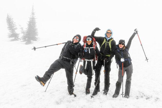 Inspiration4 crew on Mount Rainier