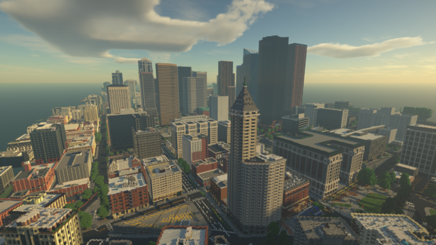 Building Seattle, brick by video game brick: City rises in Minecraft as part of immense project