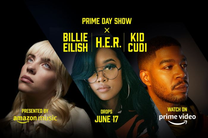 Amazon's 'Prime Day Show' will feature Billie Eilish, H.E.R. and Kid Cudi in streaming musical event