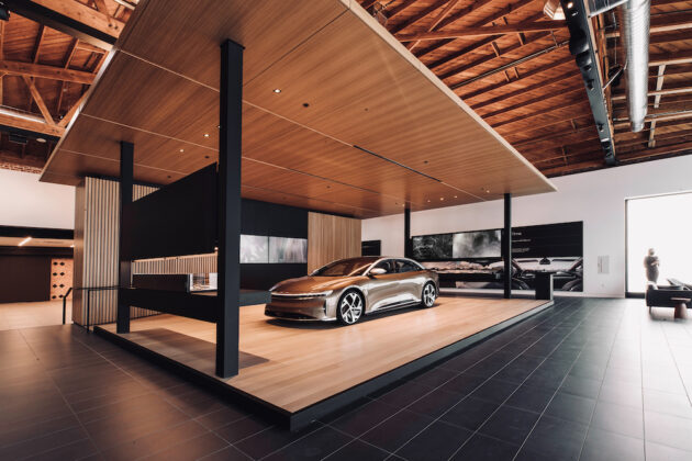 Luxury electric car maker Lucid setting up studio in Seattle in previous Microsoft Store space