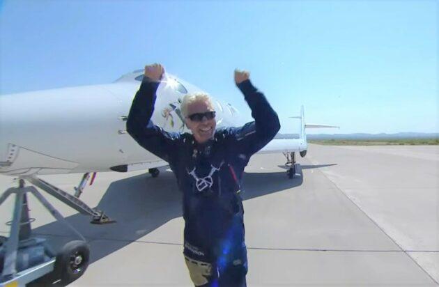 Richard Branson after the flight