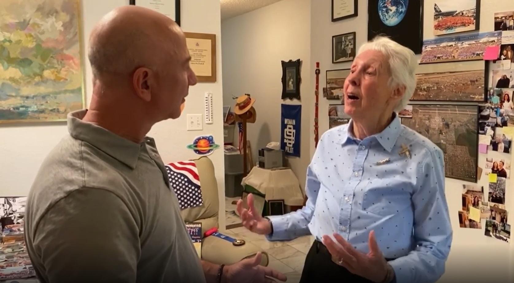 'Mercury 13' woman aviator Wally Funk will ride with Jeff Bezos on Blue Origin suborbital space trip