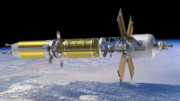 Nuclear thermal propulsion system in space