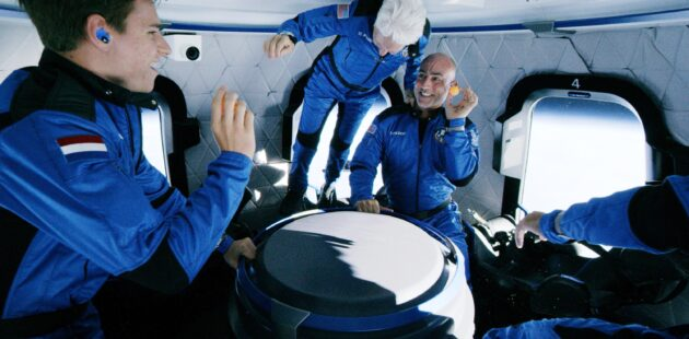 Inside the New Shepard crew capsule