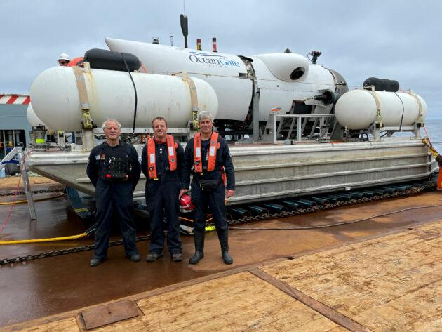 Dive team on deck