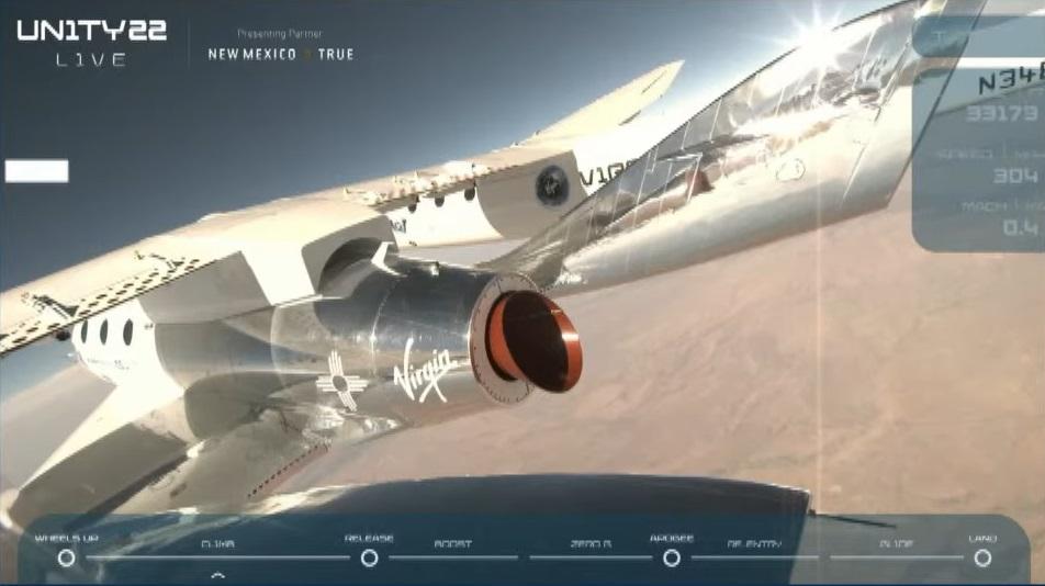 Virgin Galactic's Richard Branson takes suborbital space trip, stealing the spotlight from Jeff Bezos