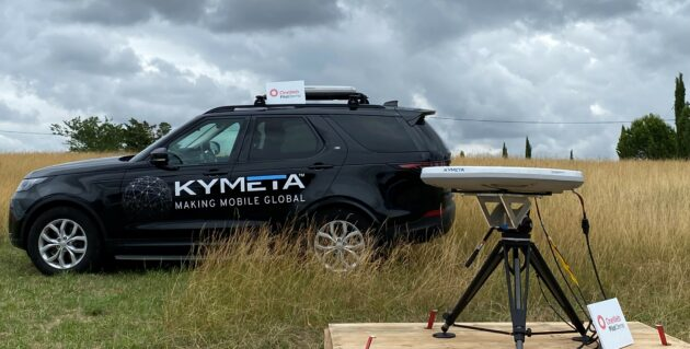Kymeta-OneWeb test rig