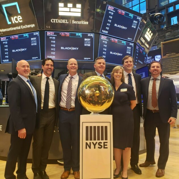 Black Sky executives at NYSE