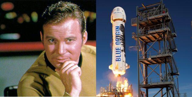 William Shatner and New Shepard spaceship