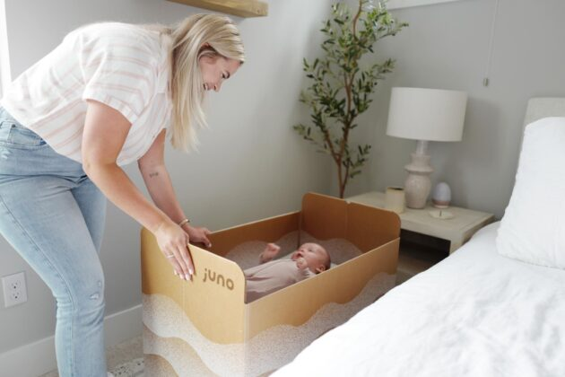 Ex-Amazon designers dream up $148 cardboard bassinet, and sleep better with sustainable solution