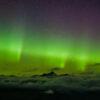 贝克山上的北极光