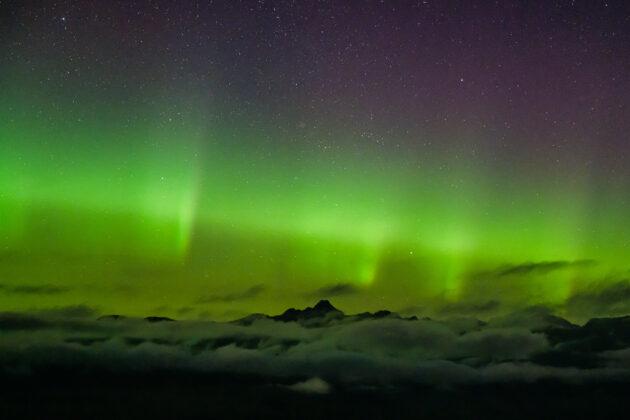 Aurora Borealis over Mt. Baker