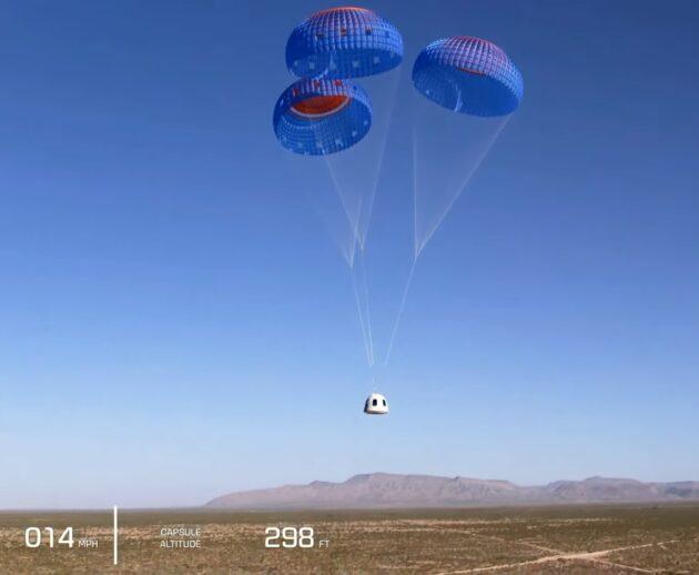 Crew capsule descent